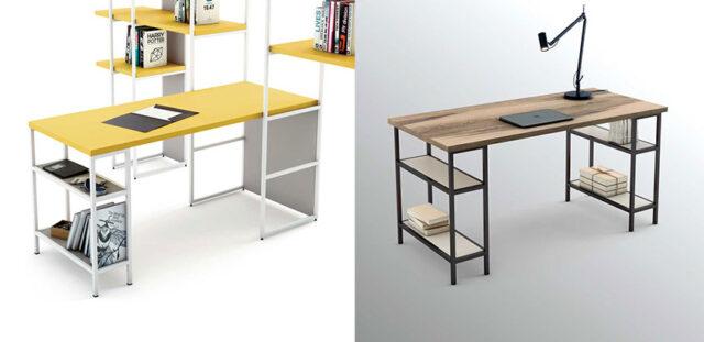 Mesas de trabajo de estilo nórdico realizadas con la colección OLUT